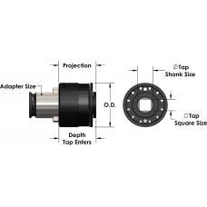 Quick Change Tap Adapter (Torque Control) ANSI 3/8""