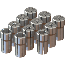 DA100 Collet Set - Set Range: 1/4 - 9/16