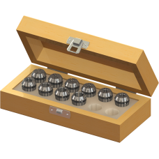 ER16 Collet Set (Metric) - 10pc with Box