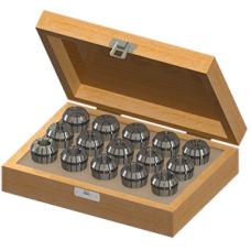 ER25 Collet Set (Inch) - 15pc with Box