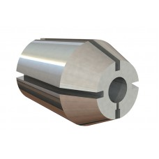 "1"" Capacity (ZZ) Double Taper Collet - Hole Size 1/8"""
