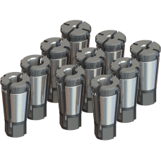 Acura-Tap Collet Set - Tap Range: #0-1/2 Hand, 1/8 Pipe SS