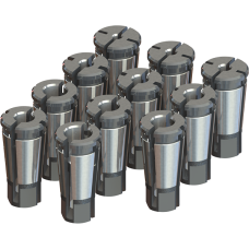 Acura-Tap Collet Set - Tap Range: 1/4 - 7/8 Hand, 1/8 - 1/2 Pipe